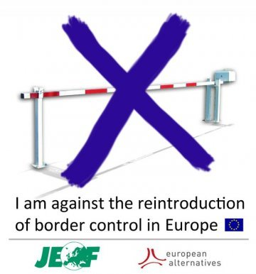 Youth against border controls between Germany and Denmark